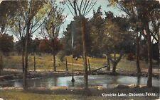 1908 Artesian Well? Klondyke Lake Cleburne TX  post card