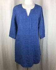 Boden Solid Blue Casual Linen Tunic Style Dress Size 12