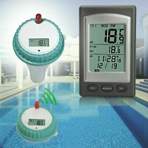Wireless LCD Pool Schwimmbad Thermometer Funk Wasserthermometer Temperaturfühler