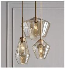 Modern Glass LED Pendant Light Chandelier Suspension Ceiling Lighting Fixture