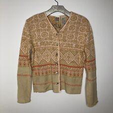 Oilily Sweater V Neck Cardigan Large
