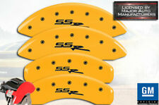 "2003-2006 Chevy ""SSR"" Front + Rear Yellow MGP Brake Disc Caliper Covers 4pc Set"