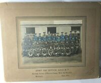 WW1 Army Pay Corps Woolwich Section September 1917  6 x 4.25 inch mounted