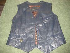 Leather Biker Vest Ladies Etienne Aigner Women's Size 12 P 100% Genuine Leather