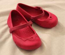 Crocs Pink Slip On Sandals - Clog Shoes Size 4 4c Mary Jane Ballet Flats