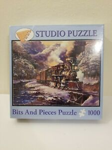 Peter Bradshaw: American Trains 1000 Pc Studio Puzzle Bits & Pieces 20 x 27,NEW!