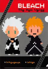 Bleach A5 Mini Clear File Folder Chibi Pixel Ichigo x Hitsugaya Animetopia HellV