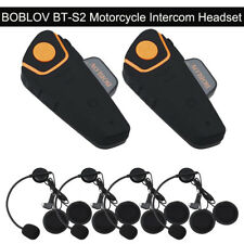 BOBLOV BT-S2 Motorbike 1KM Intercom Helemt FM Interphone Fr Riders&Passengers