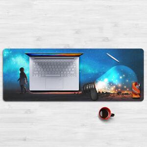 Surrealism Illustrations Mouse Pad Large Size Laptop Pad XL Mousepad 80*30cm