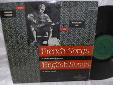HUGUES CUENOD & HERMANN LEEB WESTMINSTER WL-5085 LP FRENCH & ENGLISH SONGS