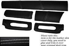 WHITE STITCH FITS LOTUS ELISE EXIGE S1 96-01 FIVE PIECE DASH KIT LTHR COVERS