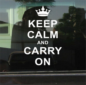KEEP CALM AND CARRY ON  VINYL DECAL / STICKER