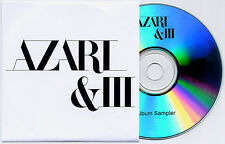 AZARI & III Album Sampler 2011 UK 4-trk promo test CD