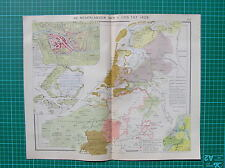 Old map :Netherlands Low Countries 1931 / landkaart Nederland / carte Pays-Bas