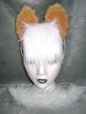 HAFLINGER PONY CAVALLO -- orecchie e coda set finta pelliccia animale, FANCY DRESS UP SET