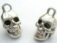 3 x Antique Silver Tibetan Alloy Skull charms / Pendants - Lead Free