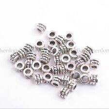 50/100PCS Tibetan Silver Spacer Beads For Jewelry Making 6X4MM E3086