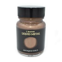 ANTIQUE GOLD LIQUID METAL METALLIC PAINT 30ml PAINTING LEAF GILDING CR78641D