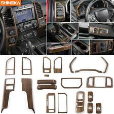 Wood Grain Full Set Interior Central Control Decor Trim Kits For Ford F150 2015