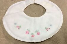 Beautiful Embroidered Vintage Baby Bib, Made in Madeira, Portugal
