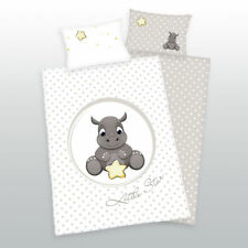 Herding Baby Bed Linen Flannel Jana Rhinoceros Stars 100 x 135 Gift New