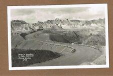 RPPC Satan's Speedway,South Dakota Badlands Rise Photo #714 winding highway