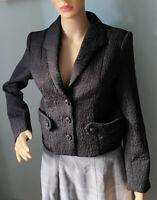 Darling London Designer Womens Tailored Evening Jacket Uk Size 8 Black BNWT