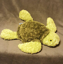 "14"" Mary Meyer FLIP FLOPS TURTLE Toy Plush Stuffed Animal Green Bean Bag"