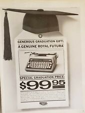 Lot of 3 Vintage 1958 Royal Futura Typewriter Print Ads New Kind of Portable