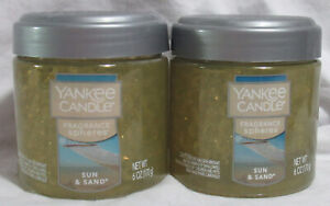 Yankee Candle Fragrance Spheres Odor Neutralizing Beads Lot Set of 2 SUN & SAND