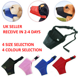 Durable Dog Muzzle Mouth Cover with Adjustable Loop Training Barking Biting Chew