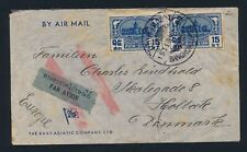 Thailand. Siam. 1939. Airmail cover to Denmark