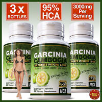 Garcinia Cambogia 95% HCA 3000mg Fat Burner Diet Pills Weight Loss 100% Pure