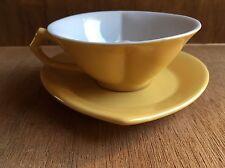 Mary Kay Yellow Heart Shaped Porcelain Tea Cup and Heart Shaped Saucer! EUC!