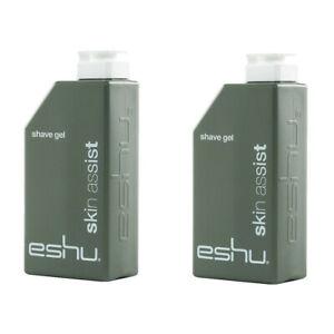 2 pk Eshu Skin Assist Shave Gel for Men 4.7 oz ea NIB