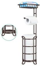 Bronze Toilet Paper Holder Stand Bathroom Tissue Holders, Free Standing With Top