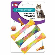 Ethical Spot Colorful Kitty Fun Tubes 3 Pack Cat Toy Catnip Treated Rainbow tube