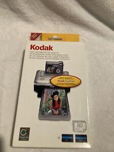 Kodak EasyShare PH-80 Color Cartridge And Photo Paper Kit New