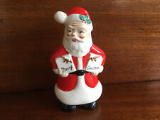 Vintage Ceramic Santa Wall Hanging Christmas Made by Yona Original Japan 7 3/4""