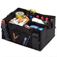 New Cargo Car Trunk Organizer Collapsible Folding Auto Storage Bin Bag Black Box
