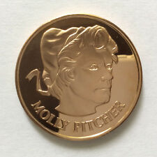 1971 Molly Pitcher Proof-Like Solid Bronze Medal Danbury Mint A5342