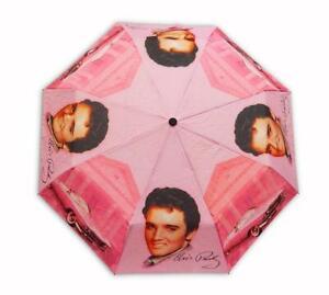 """Elvis Presley Pink Cadillac (40""""Wide When open) Compact Umbrella"""