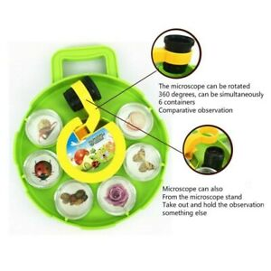 Field Microscope Bug Insects Collection Viewer Toy Gift Kids Children New
