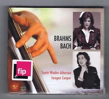 BRAHMS/ BACH 2 CDs SET NEW CANTATES/ SONATES/ SONIA WIEDER ATHERTON/ I. COOPER