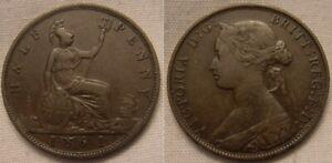 1861 Victoria Half Penny - Coin 1