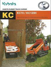 Equipment Brochure - Kubota - Rubber Track Carrier - Dump Truck (E3309)