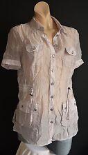 Bonita luftige transparente Bluse Hemd L 40 TOP