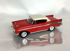 1957 Chevy Bel Air ROAD SIGNATURE Hard Top Car Red White 1:43 Die Cast Replica