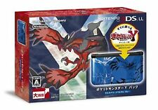Nintendo 3ds LL Console Pokemon Y Pack Xerneas Yveltal Blue Japan IMPORT