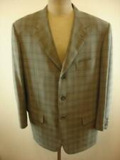 Mens 56 8 R sz 46R Corneliani Spencer Wool Super 110's Gray Plaid Jacket Blazer